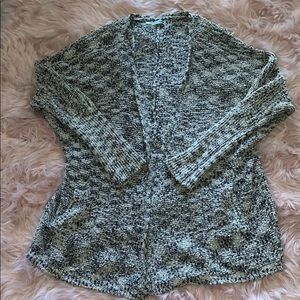 Super soft black and white knitted cardigan